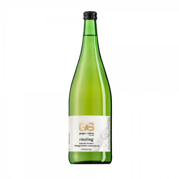 Riesling Weißwein aus Franken Kabinett trocken in der Literflasche