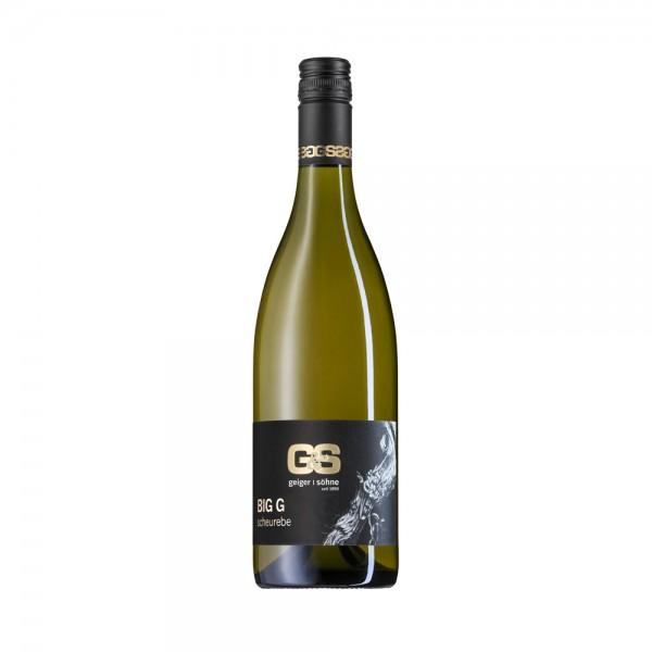 Scheurebe Weißwein aus Franken Big G trocken Holzfass