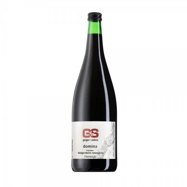 Domina Rotwein aus Franken Qualitätswein trocken in der Literflasche