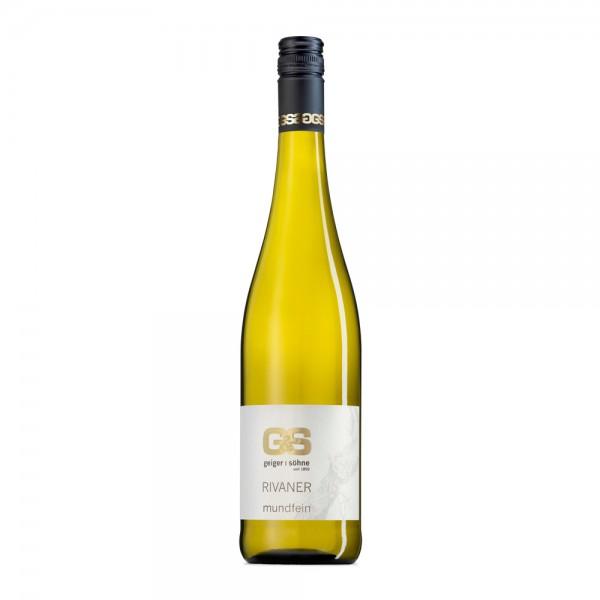 Rivaner Weißwein aus Franken Mundfein halbtrocken