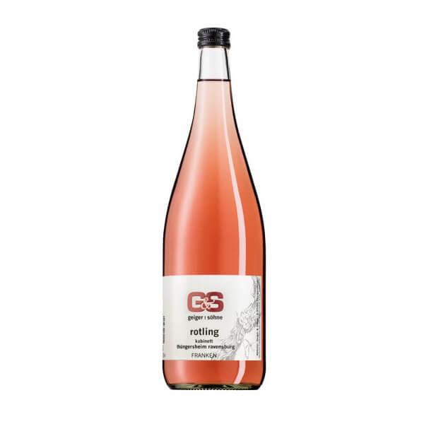 Rotling Qualitätswein aus Franken halbtrocken in der Literflasche