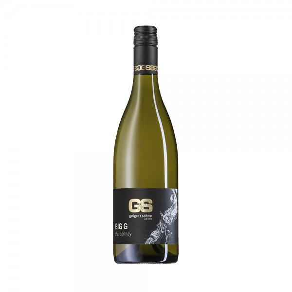 Chardonnay Weißwein aus Franken Big G trocken Holzfass