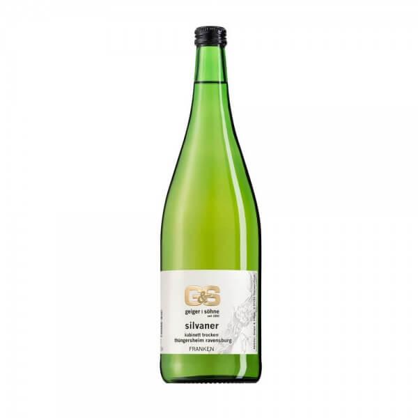 Silvaner Weißwein aus Franken Kabinett trocken in der Literflasche