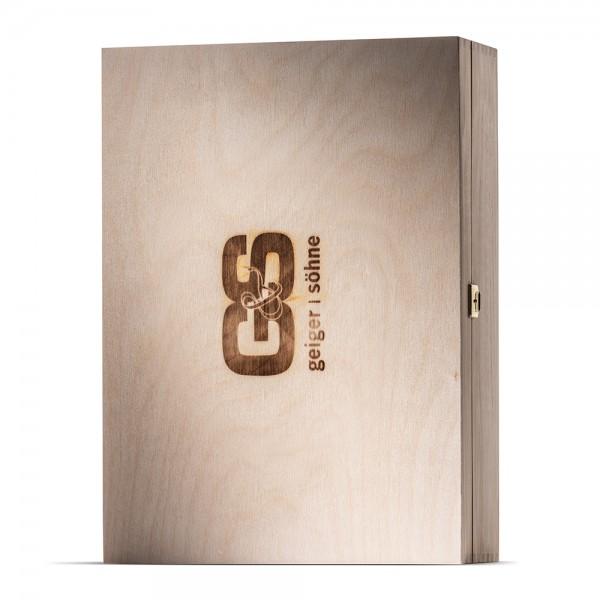 Holzkiste mit G&S Brandstempel 3er Verpackung